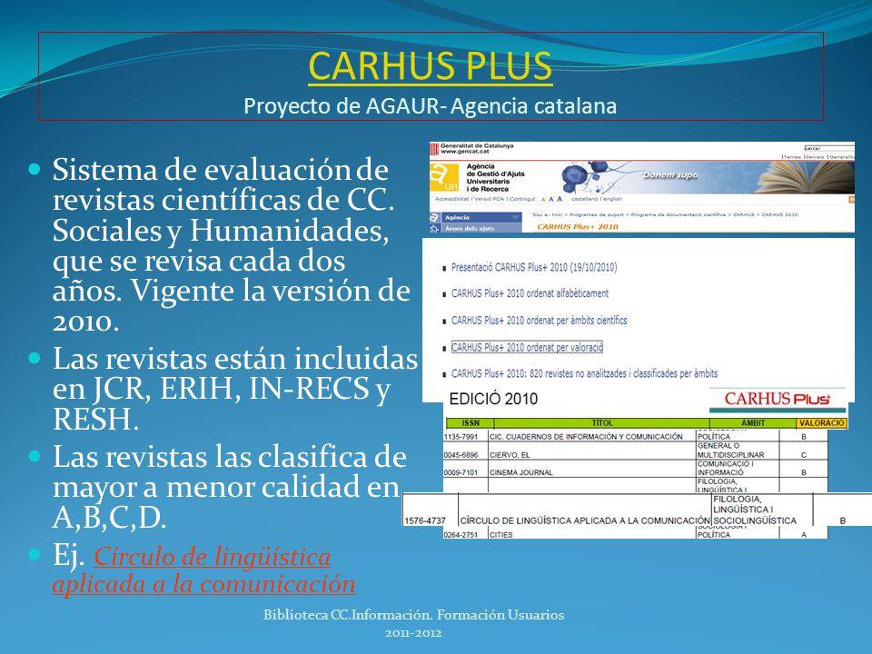 ERIH ERIH Índice de referencias europeas para Humanidades Listados de revistas de calidad del área de Humanidades en el ámbito europeo.