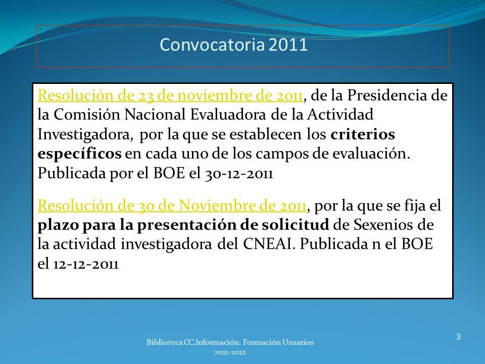 INDICE Convocatoria Criterios para la evaluación Revistas: con Indice de calidad relativa (ICR).