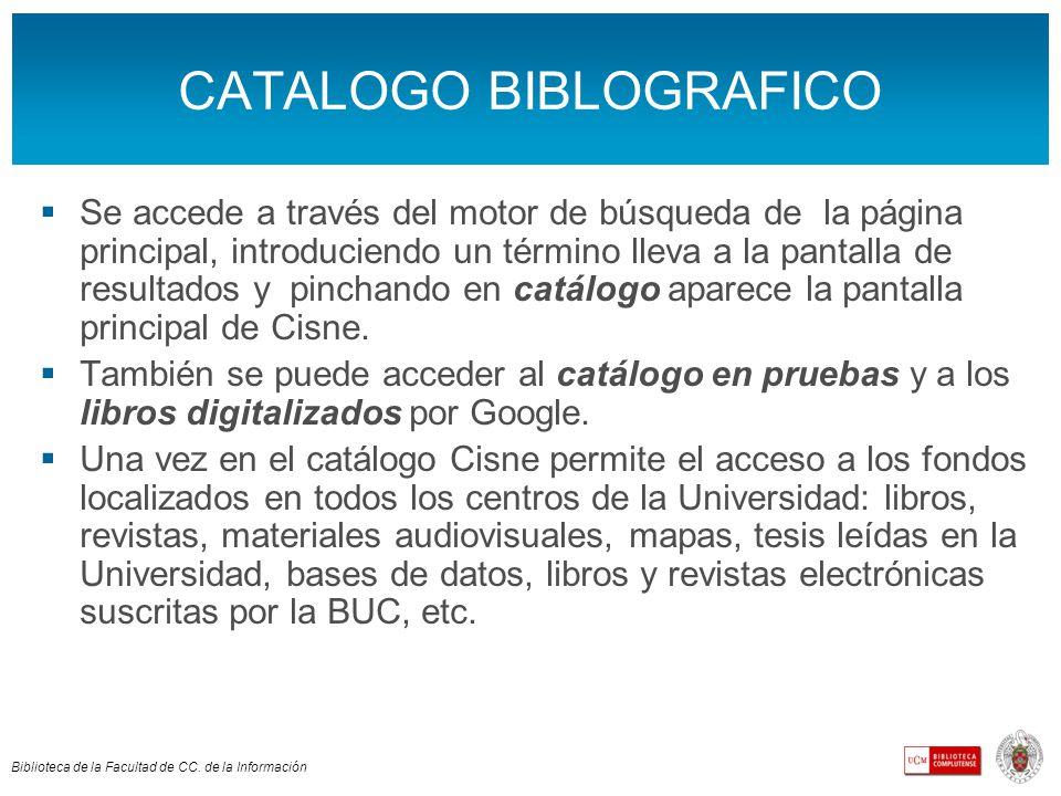 Biblioteca de la Facultad de CC.