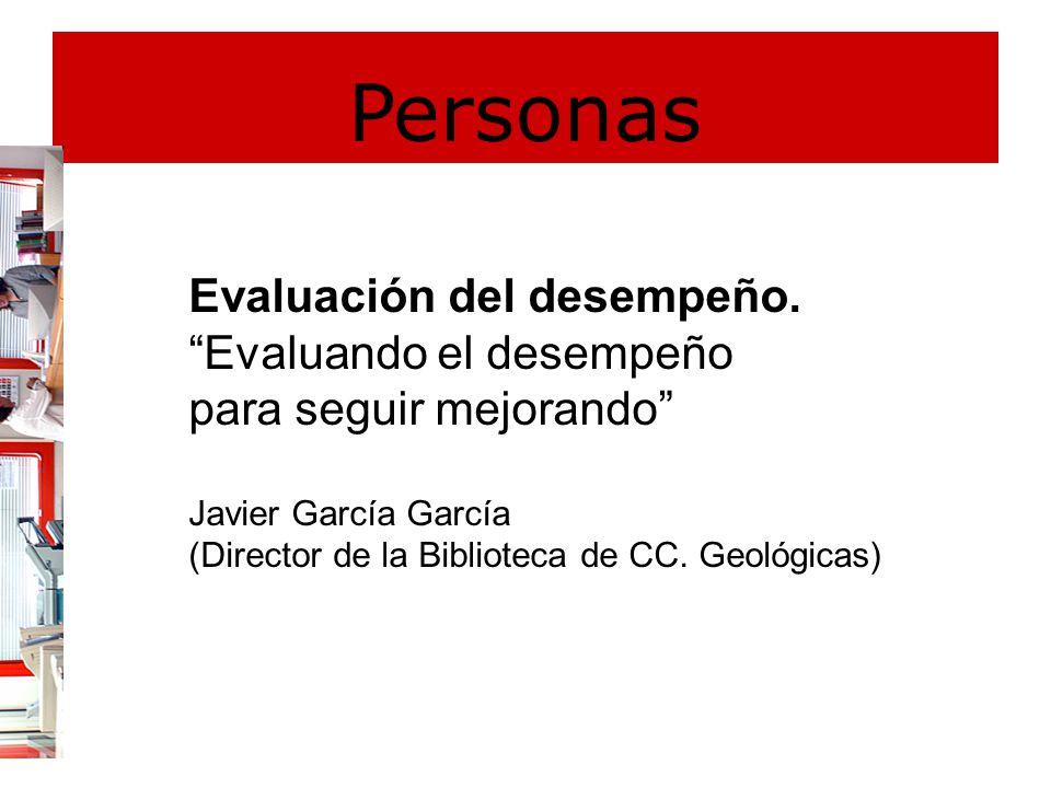 Personas Evaluación del desempeño.