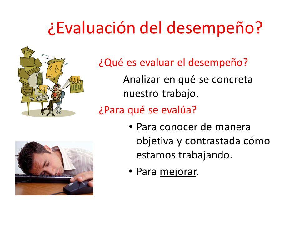 ¿Evaluación del desempeño. ¿Qué es evaluar el desempeño.