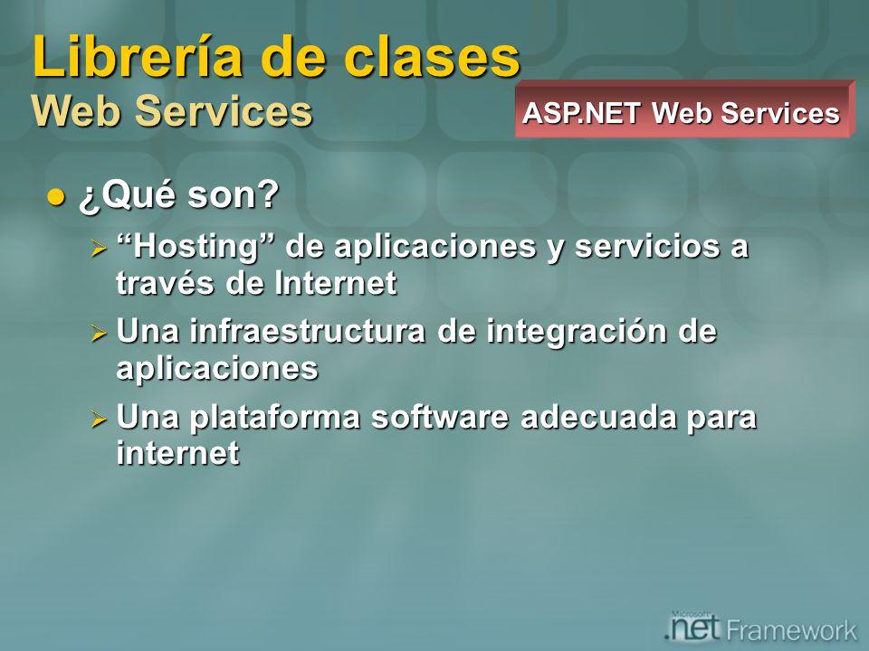 ¿Qué son? ¿Qué son? Hosting de aplicaciones y servicios a través de Internet Hosting de aplicaciones y servicios a través de Internet Una infraestruct