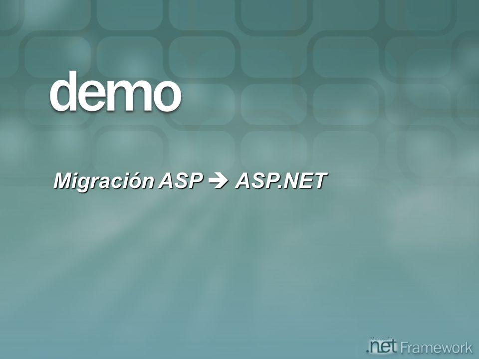 Migración ASP ASP.NET