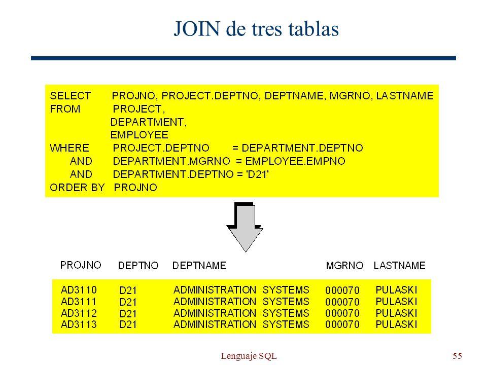 Lenguaje SQL55 JOIN de tres tablas