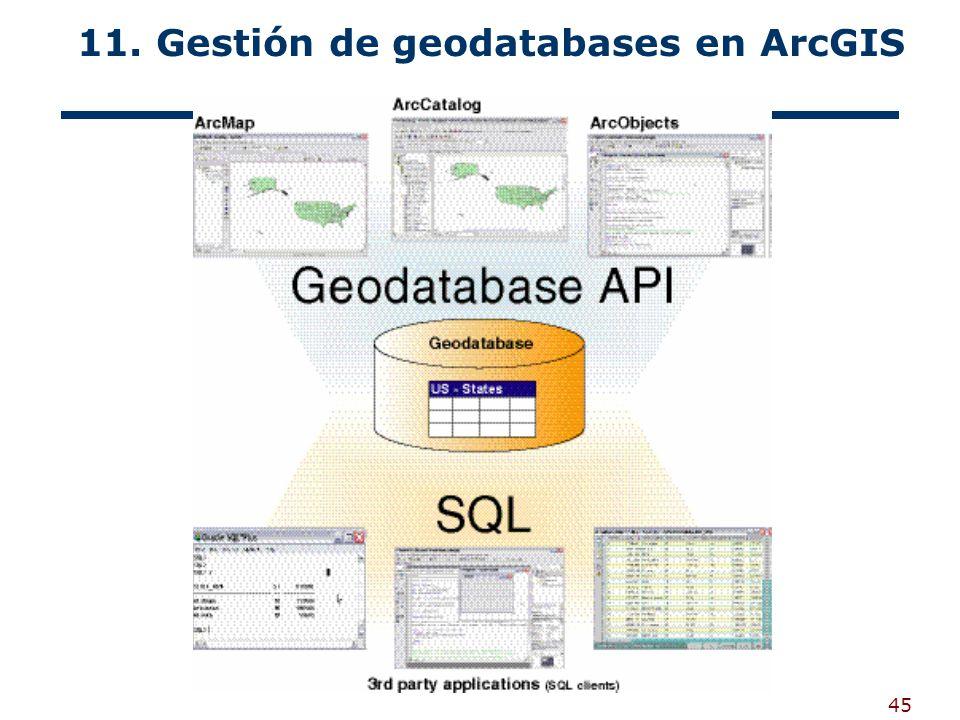 45 11. Gestión de geodatabases en ArcGIS