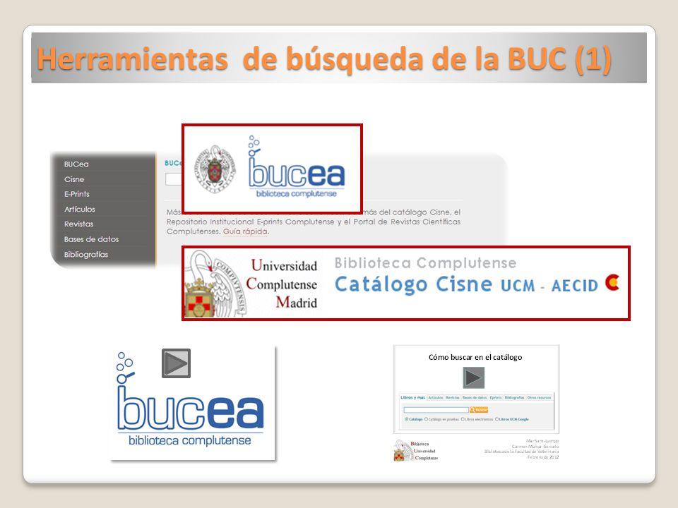 Herramientas de búsqueda de la BUC (1)