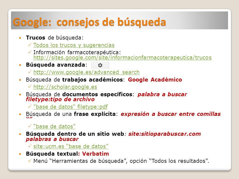 Herramientas de búsqueda de la BUC (2)