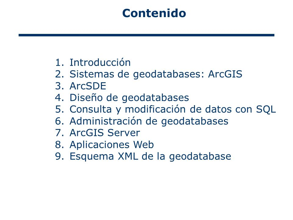 43 Consulta y modificación de datos con SQL Directrices: No modificar tuplas con SQL en datos versionados (ArcSDE; MS Access no lo soporta).