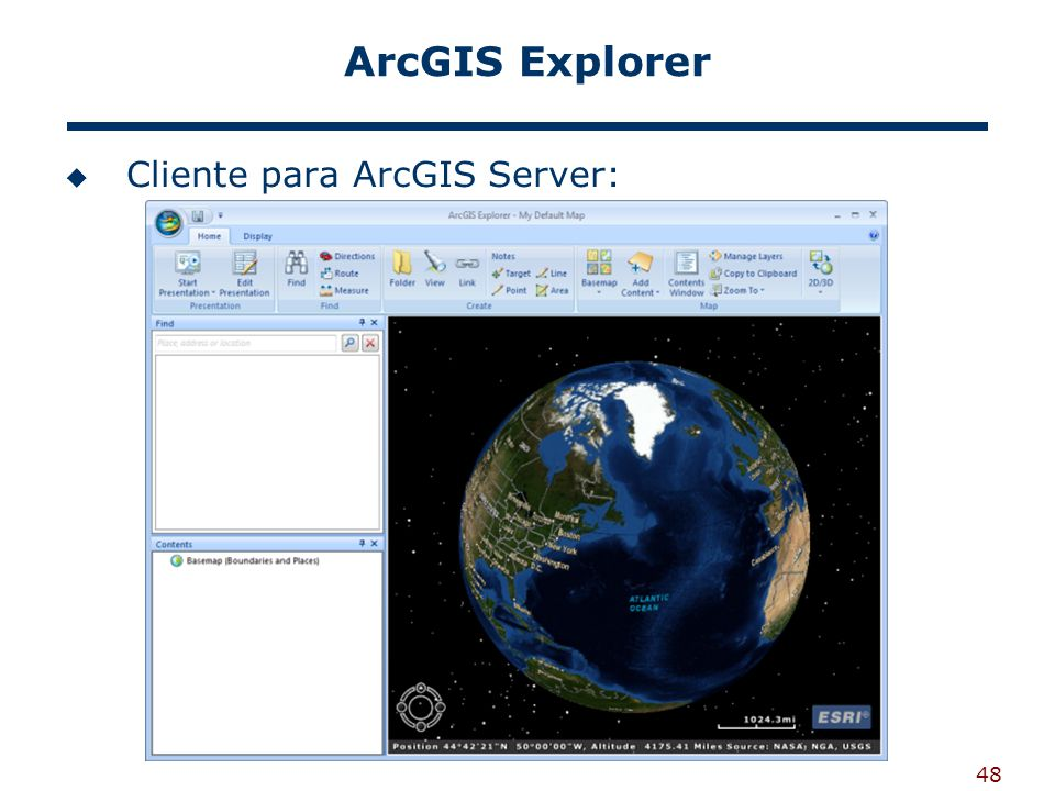 48 ArcGIS Explorer Cliente para ArcGIS Server: