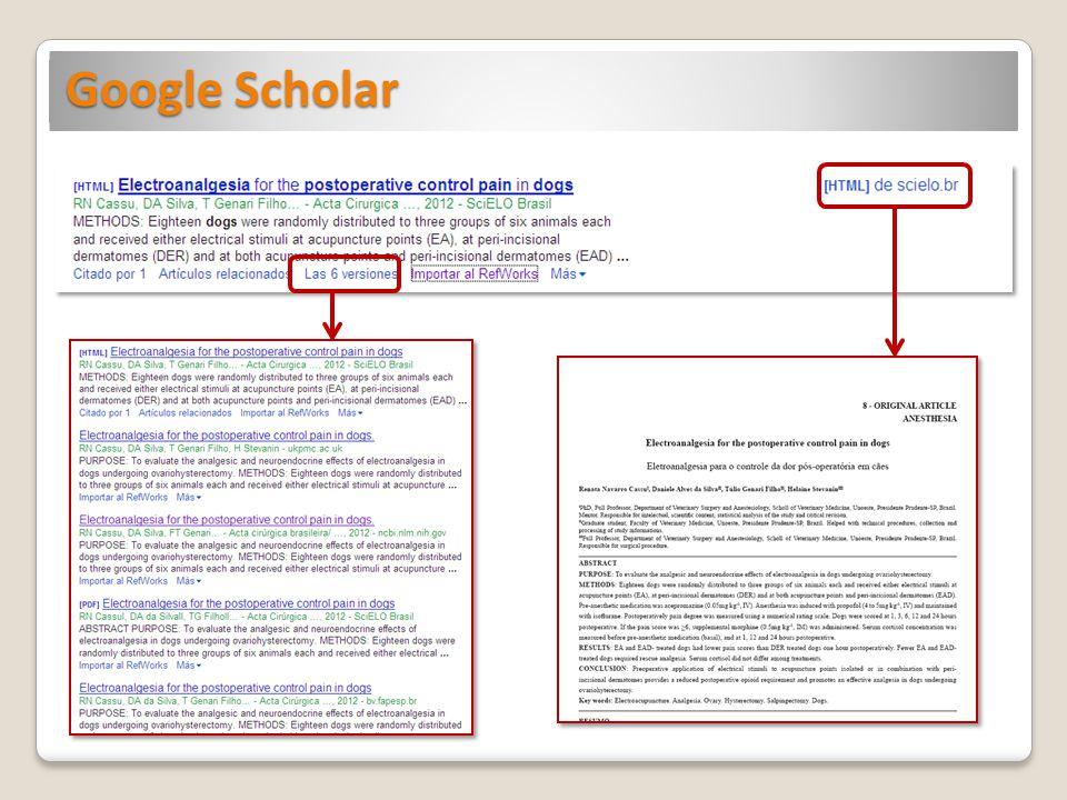 Subproducto de Google, lanzado al público en 2004, con el fin de proporcionar acceso universal y gratuito a las publicaciones científicas.