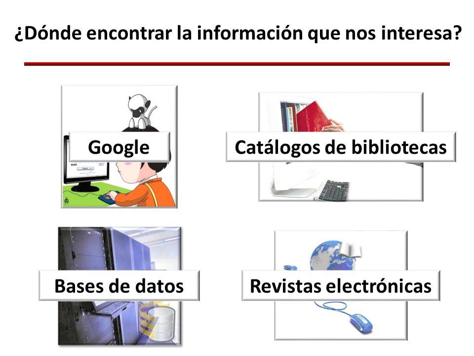 ¿Dónde encontrar la información que nos interesa.