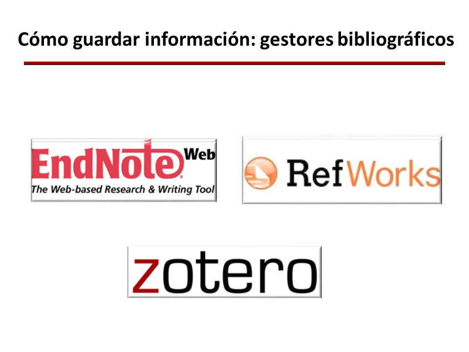 Cómo guardar información: gestores bibliográficos