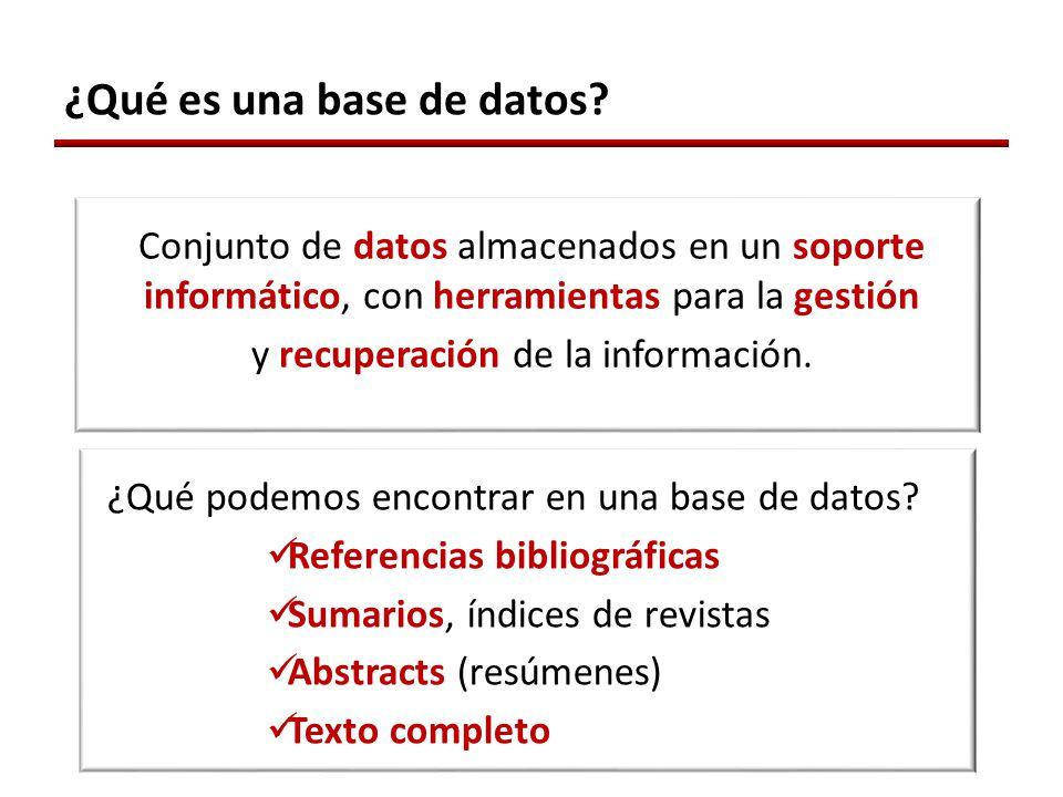 ¿Qué es una base de datos.