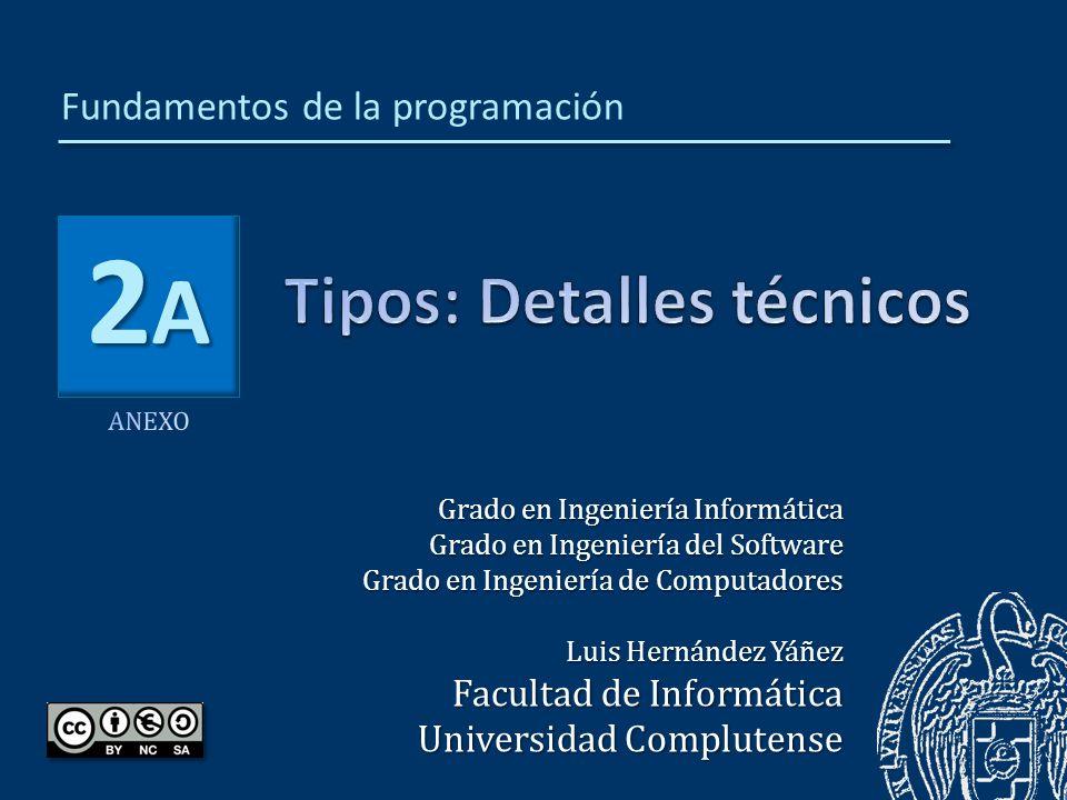 2A2A2A2A Grado en Ingeniería Informática Grado en Ingeniería del Software Grado en Ingeniería de Computadores Luis Hernández Yáñez Facultad de Informá
