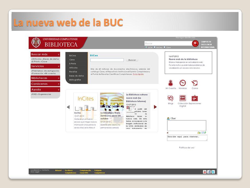 La nueva web de la BUC