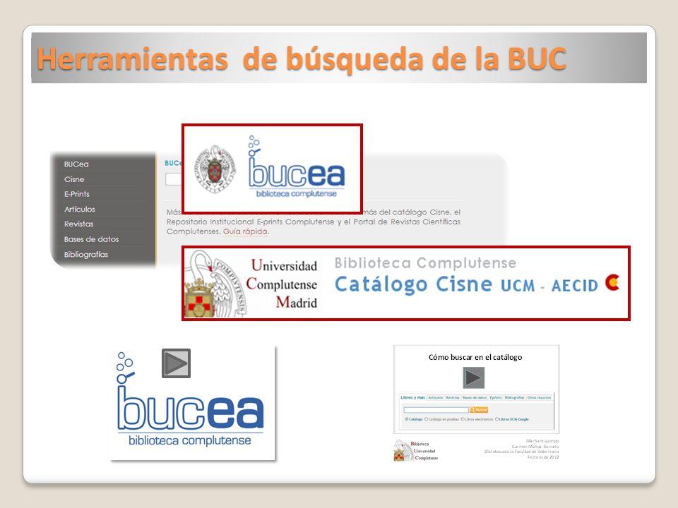 Herramientas de búsqueda de la BUC