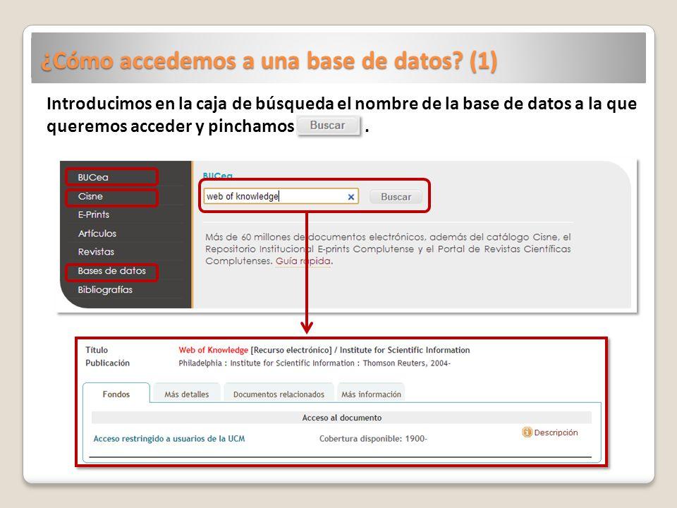 ¿Cómo accedemos a una base de datos.