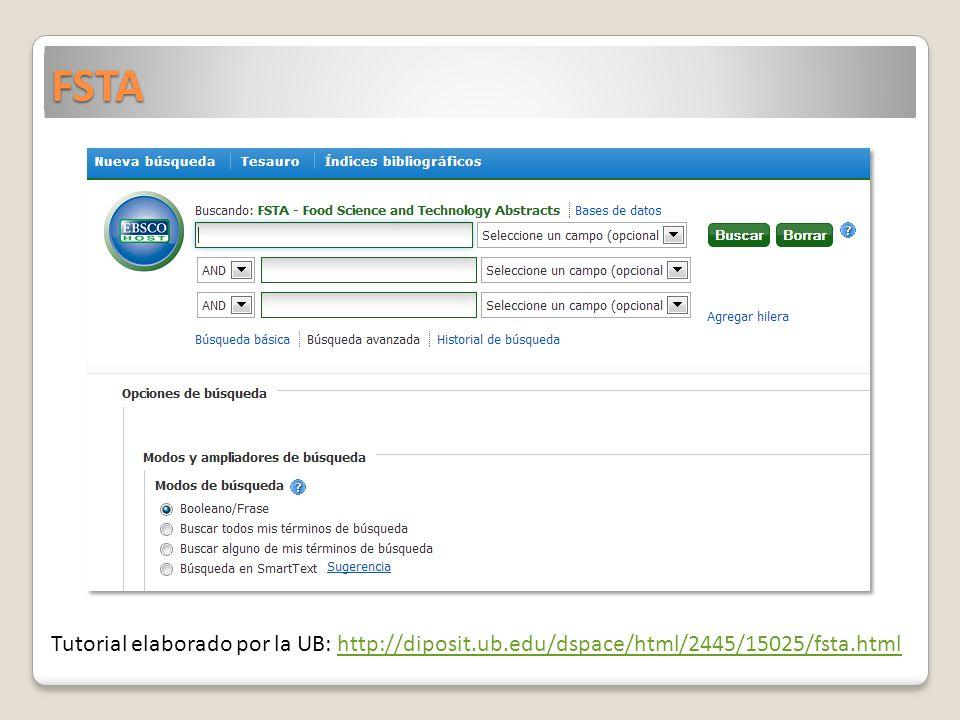 FSTA Tutorial elaborado por la UB: http://diposit.ub.edu/dspace/html/2445/15025/fsta.htmlhttp://diposit.ub.edu/dspace/html/2445/15025/fsta.html