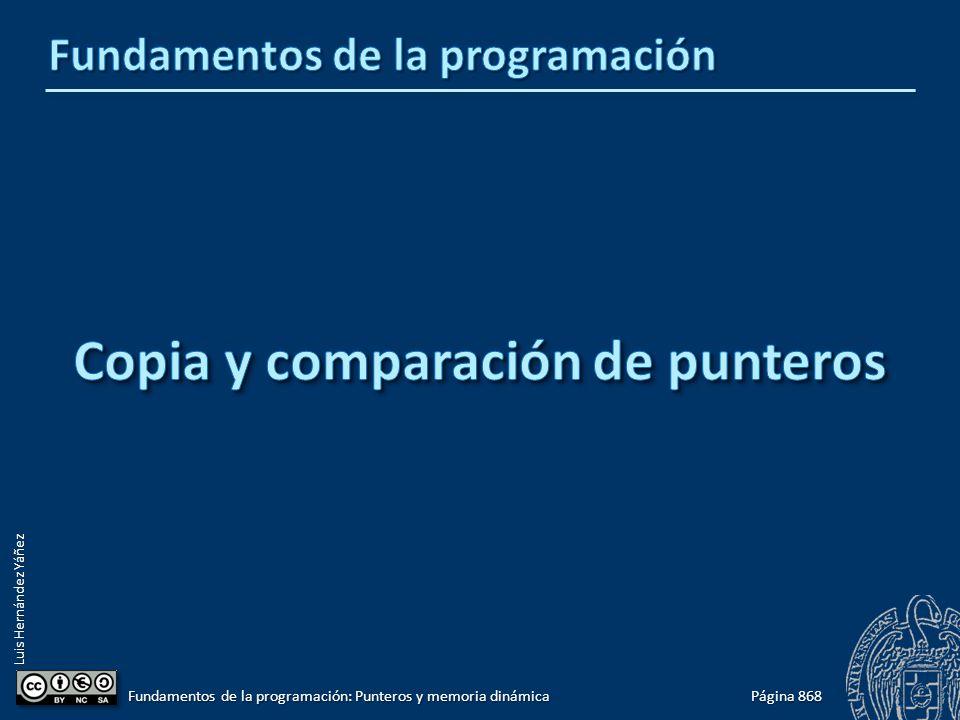 Luis Hernández Yáñez Página 868 Fundamentos de la programación: Punteros y memoria dinámica