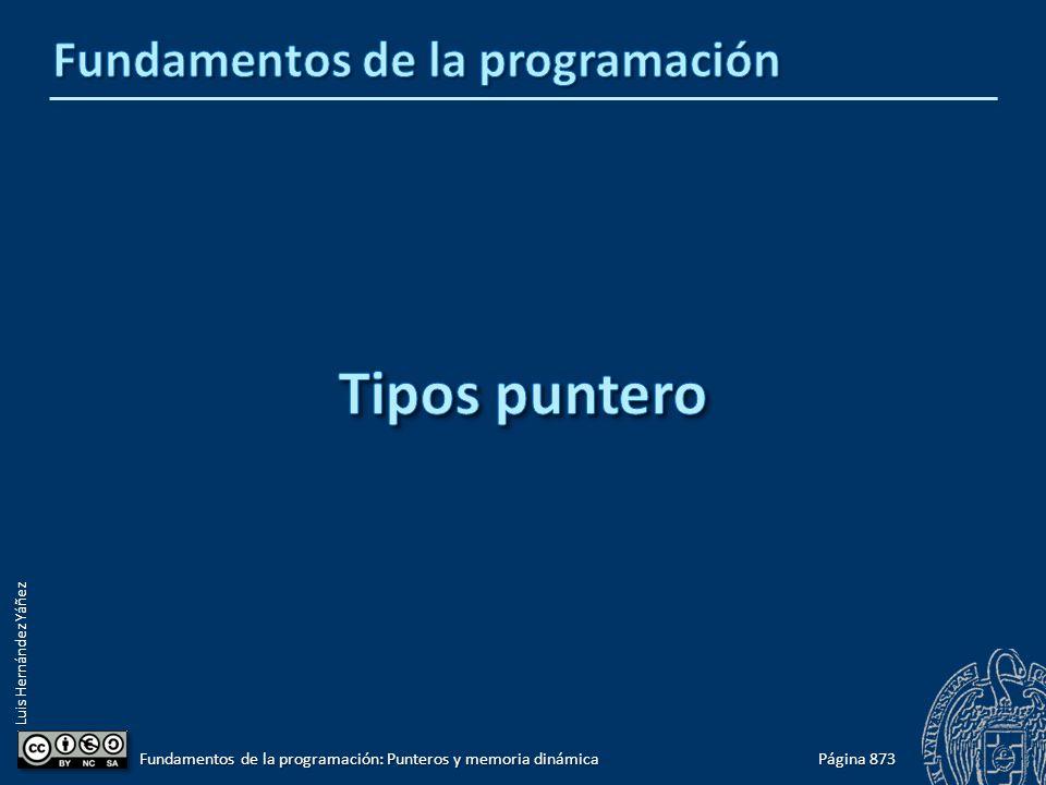 Luis Hernández Yáñez Página 873 Fundamentos de la programación: Punteros y memoria dinámica
