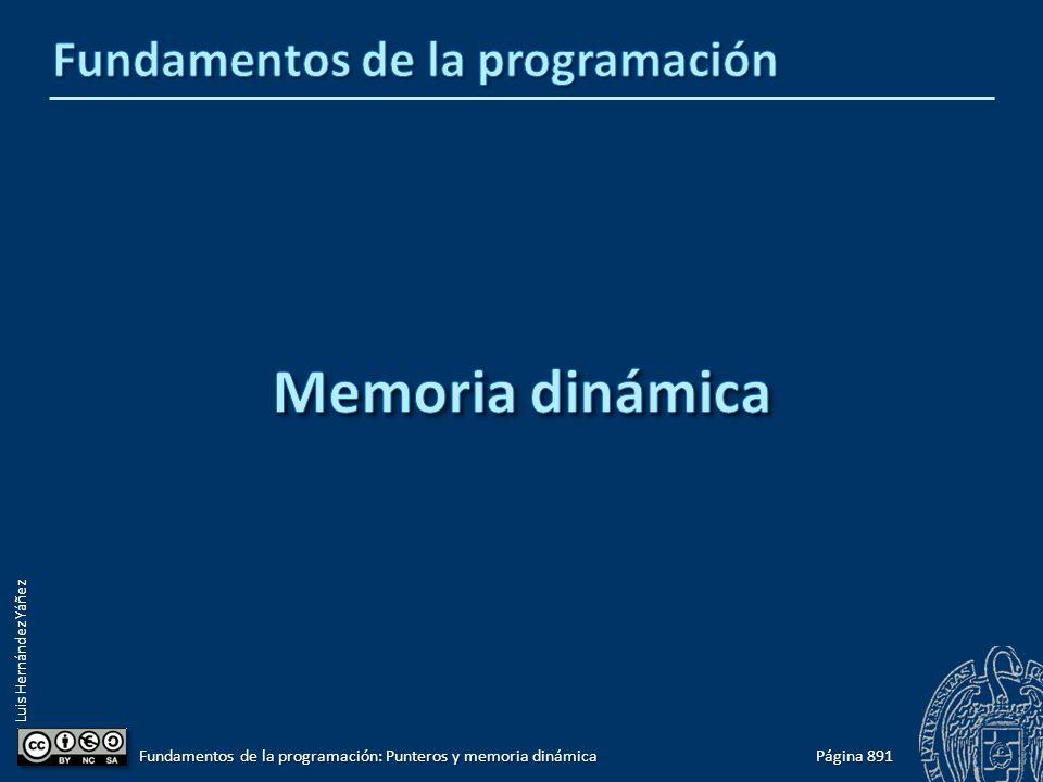 Luis Hernández Yáñez Página 891 Fundamentos de la programación: Punteros y memoria dinámica