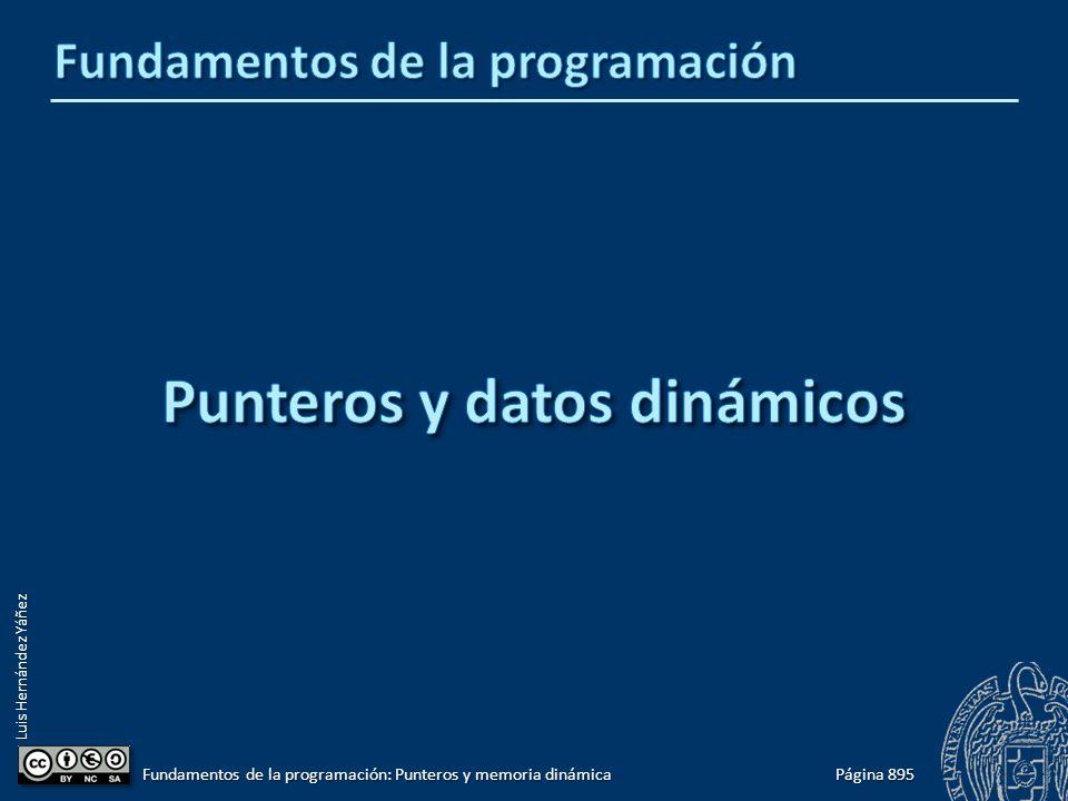 Luis Hernández Yáñez Página 895 Fundamentos de la programación: Punteros y memoria dinámica