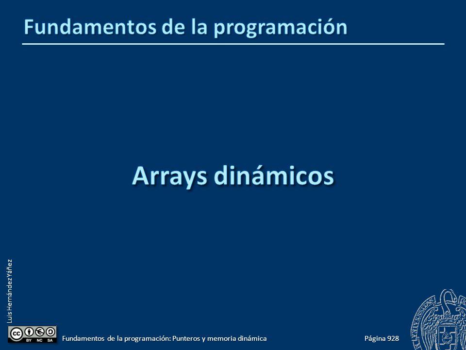 Luis Hernández Yáñez Página 928 Fundamentos de la programación: Punteros y memoria dinámica