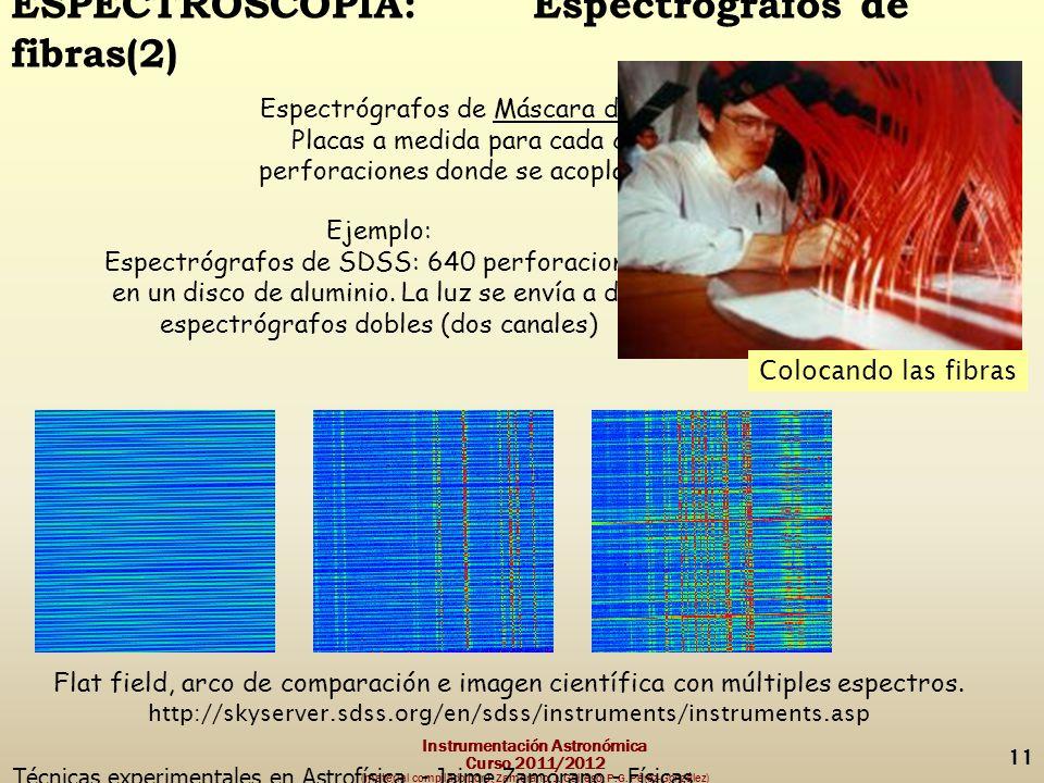 Instrumentación Astronómica Curso 2011/2012 (material compilado por J.