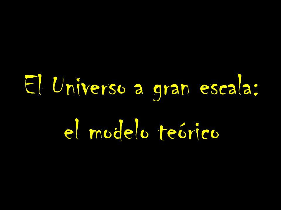 El Universo a gran escala: el modelo teórico