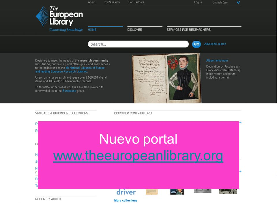 Place your organisation logo here Nuevo portal www.theeuropeanlibrary.org www.theeuropeanlibrary.org
