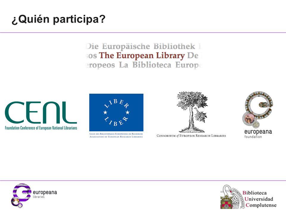 Place your organisation logo here ¿Quién participa