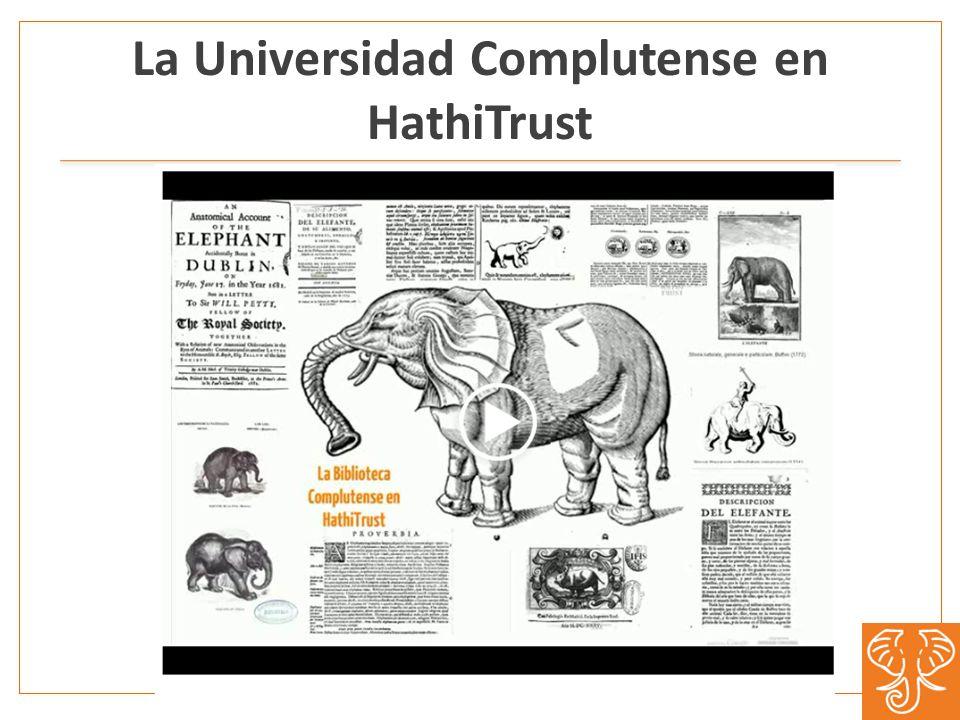 La Universidad Complutense en HathiTrust