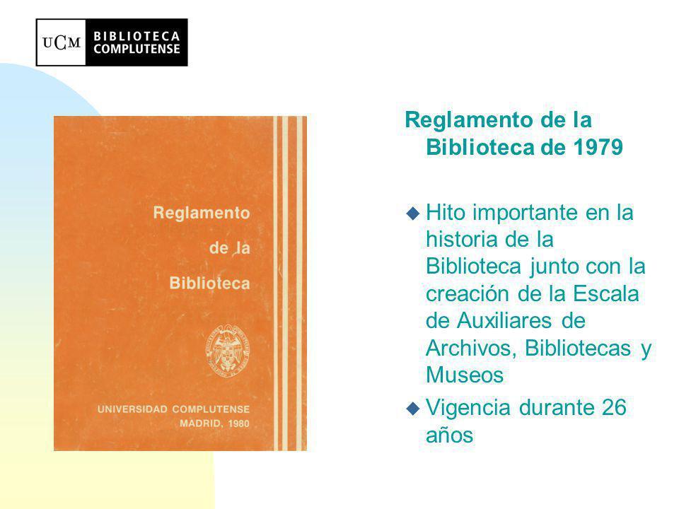 Problemas básicos del Reglamento de 1979 n Derivados de su aplicación n Derivados de su inadaptación: u Redactado antes que los Estatutos de la UCM (R.D.861/1985, de 24 de abril, modificados parcialmente por R.D.1555/1991 de 11 de octubre)