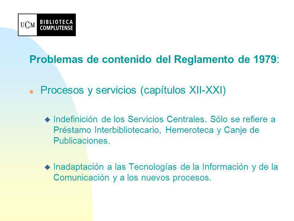 Contenido del Reglamento: n Título VII (artículos 82-88) colecciones u Centralización de fondos y propiedad (arts.