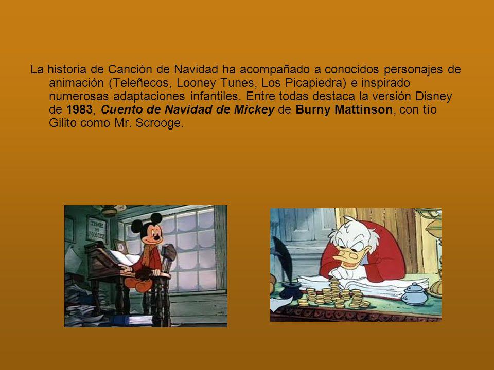 La historia de Canción de Navidad ha acompañado a conocidos personajes de animación (Teleñecos, Looney Tunes, Los Picapiedra) e inspirado numerosas ad