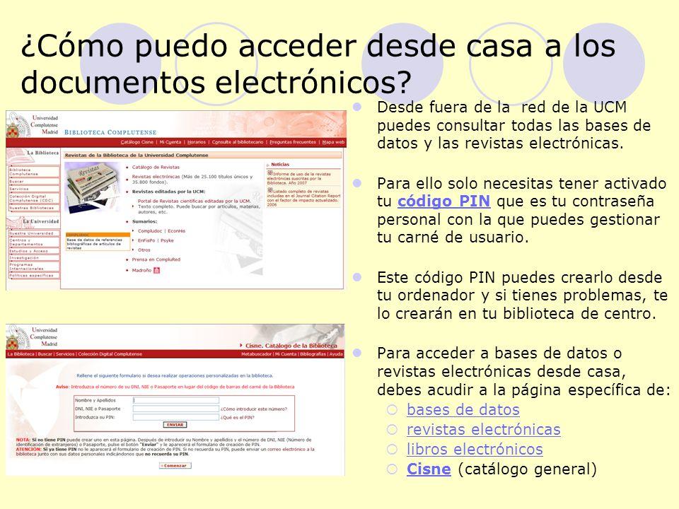 ¿Cómo puedo acceder desde casa a los documentos electrónicos.