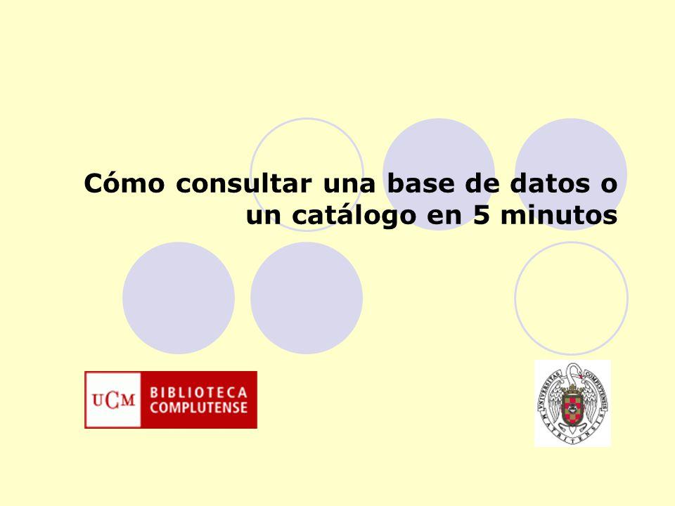 Vea demostraciones Vea demostraciones Cómo consultar una base de datos o un catálogo Las bases de datos y los catálogos son fuentes valiosas para almacenar y recuperar la información.