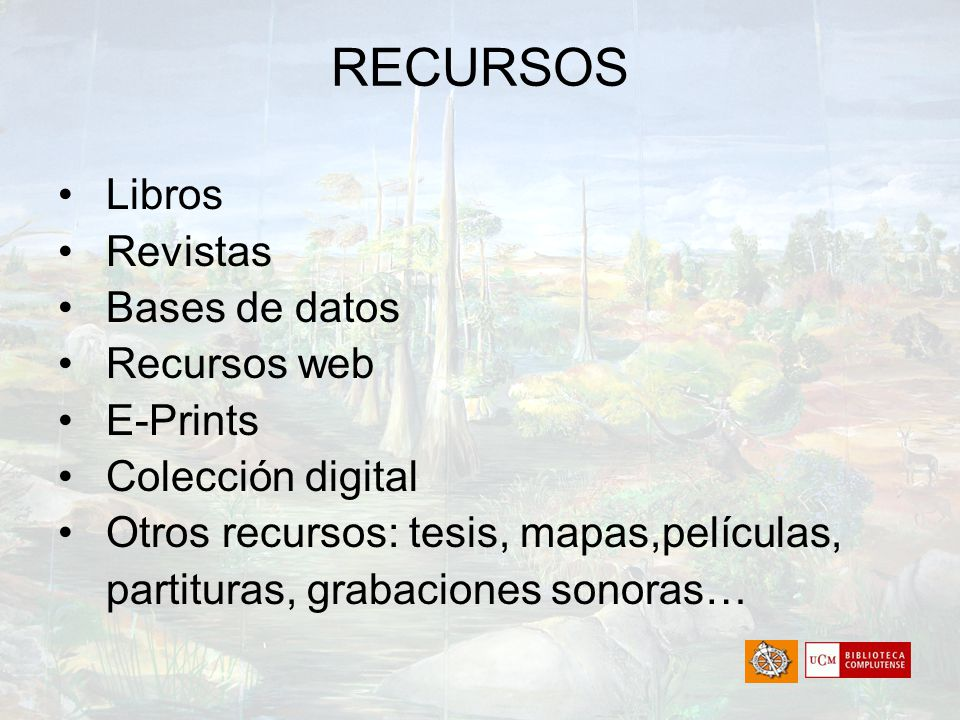 HERRAMIENTAS Catálogo Compludoc Portal de Revistas Complutenses Bases de datos Complured E-Prints Complutense Colección digital Bibliografías Multibuscador