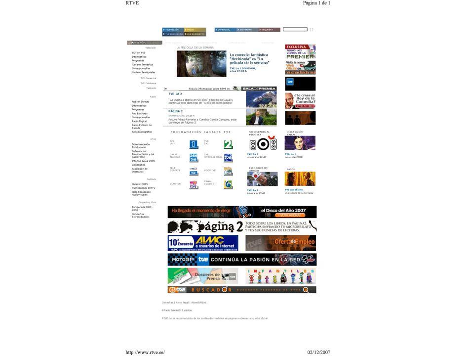 RTVE: fondos sonoros en la Intranet corporativa Música clásica Música Ligera Palabra Efectos sonoros Cuñas radiofónicas Elaboración de playlists