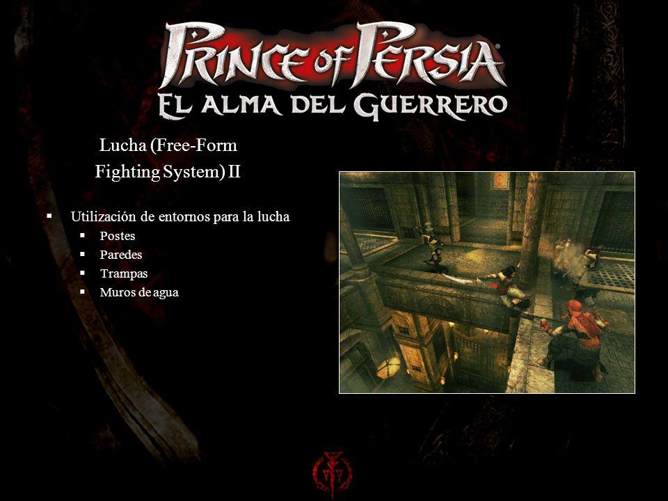 Lucha (Free-Form Fighting System) II Utilización de entornos para la lucha Postes Paredes Trampas Muros de agua