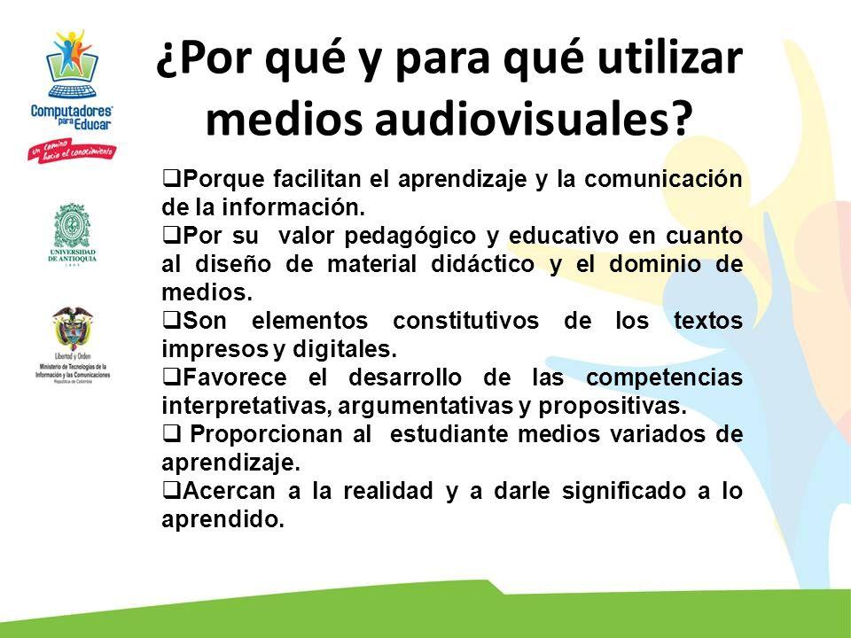 Porque facilitan el aprendizaje y la comunicación de la información. Por su valor pedagógico y educativo en cuanto al diseño de material didáctico y e