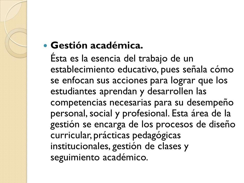 Gestión académica.
