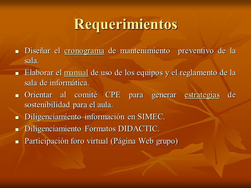 Productos Cronograma de mantenimiento preventivo.Cronograma de mantenimiento preventivo.
