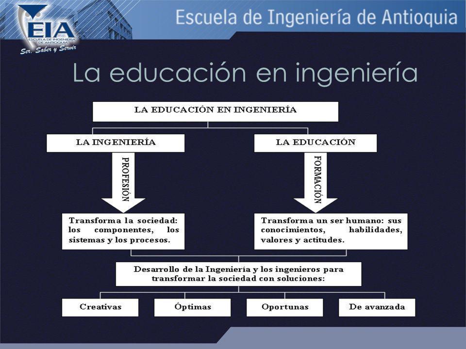 La educación en ingeniería
