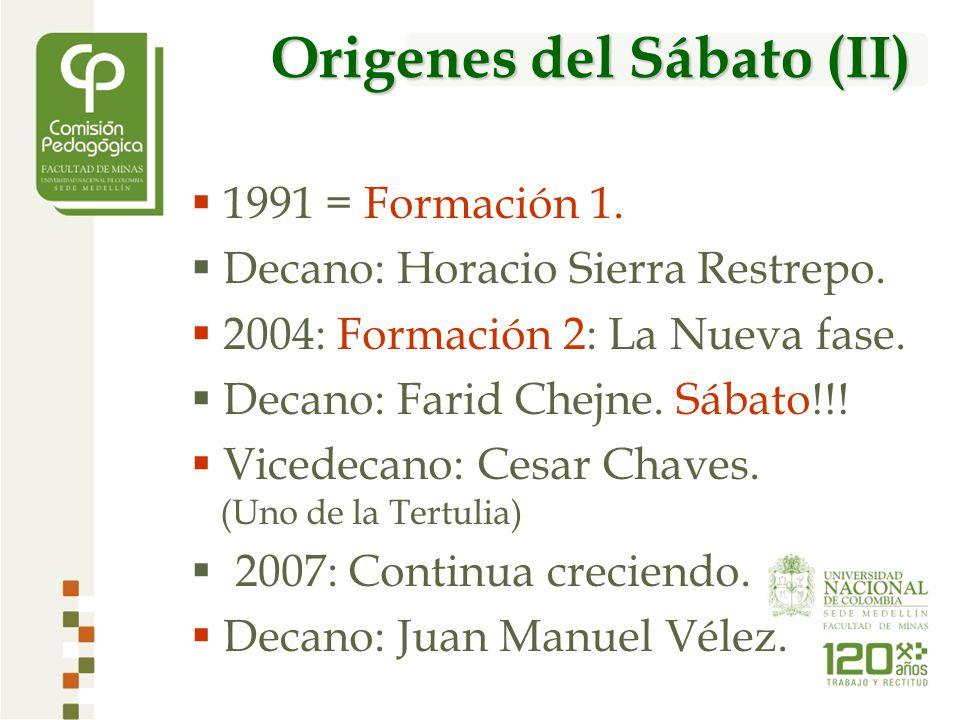 1991 = Formación 1. Decano: Horacio Sierra Restrepo.