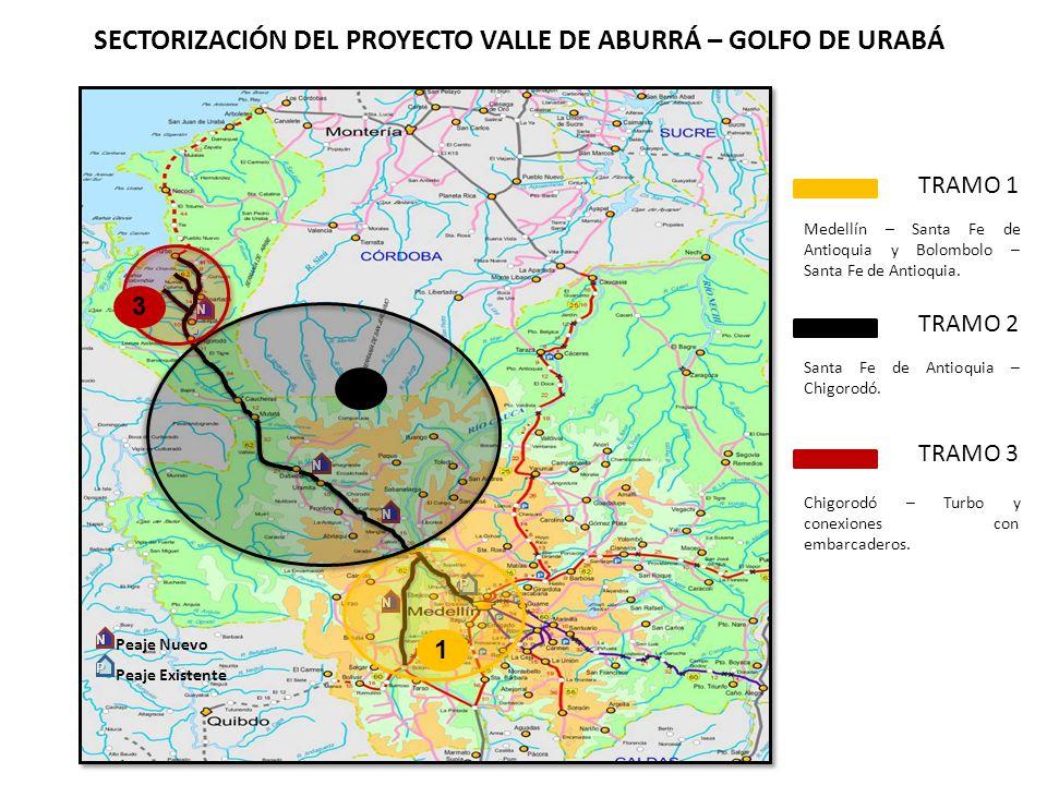 UBICACION.TRAMO 1 Medellín – Santa Fe de Antioquia y Bolombolo – Santa Fe de Antioquia.