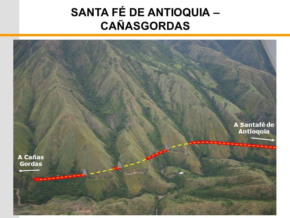 SANTA FÉ DE ANTIOQUIA – CAÑASGORDAS A Cañas Gordas A Santafé de Antioquia