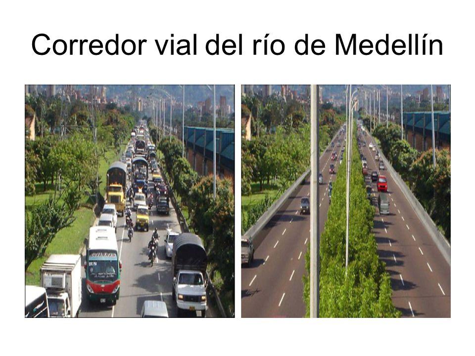 Corredor vial del río de Medellín