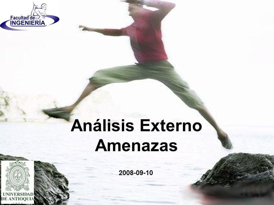 2008-09-10 Análisis Externo Amenazas