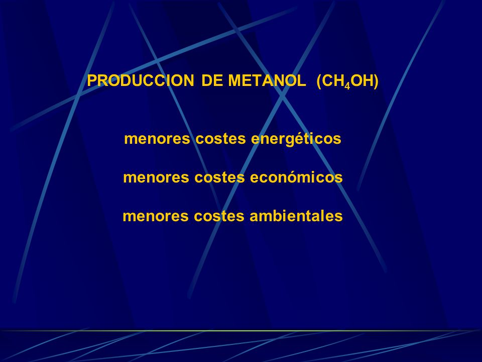 TRANSFORMACIONES QUE CAUSAN EN EL MEDIO Transforman el metano en metanol.
